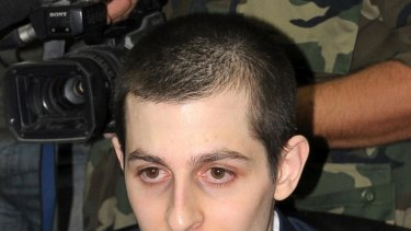 Pale ... Gilad Shalit speaks during an interview on Egyptian TV.