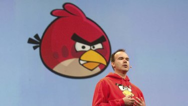 """Peter Vesterbacka, chief executive officer of Rovio Mobile and creator of the game """"Angry Birds""""."""