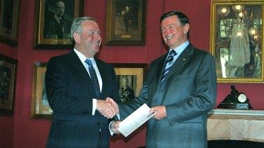 Premier Colin Barnett with WA Governor Malcolm McCusker.