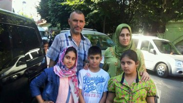 Zainab Abbas with her husband Ahmad Hadi and their children. Zainab and Haider (left and centre) died in the tragedy, while Rawan (right) survived.