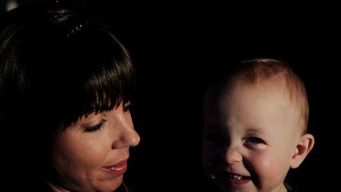 Tough decisions ... Vanessa Burdett, who faced breast cancer and fertility issues, with son Harvey.