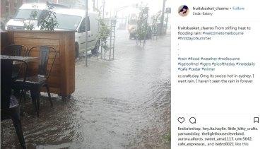 Flash flooding in High Street, Preston on December 1, 2017.
