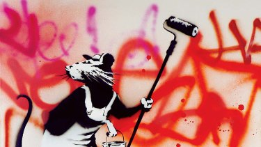 The art of accessibility: Banksy's street art negates the need for an accompanying theory.