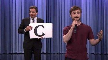 Dope Skills: Daniel Radcliffe raps on Jimmy Fallon's <i>Tonight Show</i>.