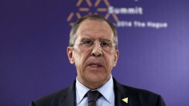 """Russian Foreign Minister Sergey Lavrov: Russia's expulsion from the G8 would be no """"great tragedy""""."""