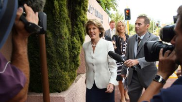 Julie Bishop resigns from the Shadow Treasury, but retains the Opposition Deputy Leader' position.