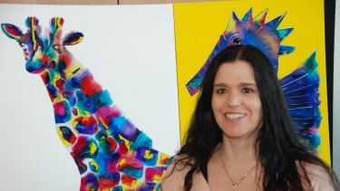 Justine Martin enrolled in an art course after being diagnosed with multiple sclerosis. She has gone on to exhibit, win prizes and sell her paintings.