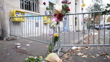 The scene outside the Bataclan concert hall the morning after the attack.