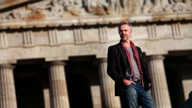 Cameron Daddo at the Shrine of Remembrance.