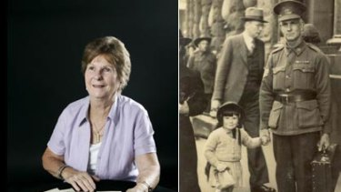 Letters bring back memories ... Holgate's daughter Helen and the pair in wartime (right).