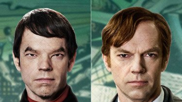 The many faces of Hugo Weaving in Cloud Atlas.