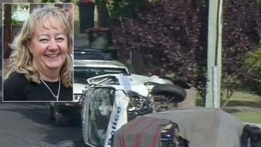 Gillian Harman ... killed when a police car responding to a call slammed into the driver's side of her car.