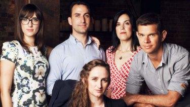 Generation next, left to right: Beau Neilson, Jordan Reed, Augusta Supple, Jacqueline Rowlands, Brad Bazley.