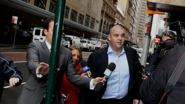 Nathan Tinkler arrives at ICAC on Friday.