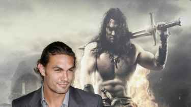 """Cast member Jason Momoa arrives at the film premiere of """"Conan the Barbarian"""" in Los Angeles, California August 11, 2011."""