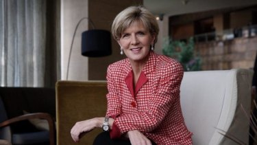 """""""It's looking very positive"""": Foreign Affairs Minister Julie Bishop said negotiations were continuing but she was confident sticking points could be ironed out."""