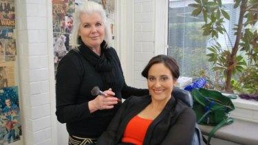 Vicki Schultz with Channel Ten reporter and presenter, Chiara Zaffino.
