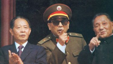 """Defence minister Qin Jewei in 1984 ... """"the real hero in 1989""""."""