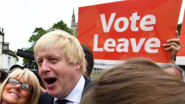 "Former London Mayor and Brexit ""leave"" camp enthusiast Boris Johnson."