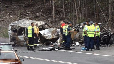Three people have died and two are in a critical condition after a crash on the Princes Highway south of Sussex Inlet.