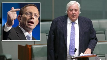 FoFA laws to stay: Tony Abbott may have gotten his way over the carbon tax, but Clive Palmer is holding his ground on changes to financial planners.
