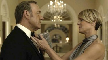 Kevin Spacey and Robin Wright 'cut mesmerising figures' in <i>House of Cards</i> season 3.