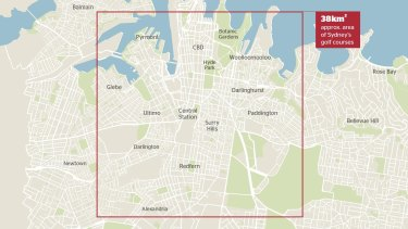 Sydney's golf courses occupy an area 1.5 times larger than the City of Sydney.