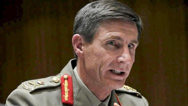 Lieutenant-General Angus Campbell appears before the Senate estimates committee.
