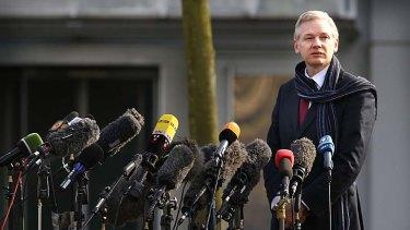 Abandoned: Wikileaks founder Julian Assange.