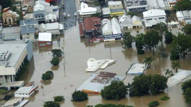 Gympie's town centre is under water.
