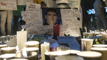 A vigil for 23-year-old Reza Barati, the Iranian man who died during violent clashes on Manus Island earlier this week