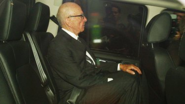 Rupert Murdoch and his son James were due to be grilled by British MPs today about the phone hacking scandal. Picture: AP