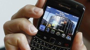 """The new """"Blackberry Bold 9700"""" handset."""