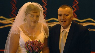 Flashback ... Peter Veness on the day he married Bec.