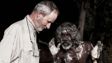 Friends: Filmmaker Rolf de Heer and actor David Gulpilil on the set of <i>Charlie's Country</i>.