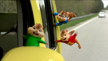 Shared horror: Alvin and the Chipmunks ride again in <i>The Road Chip</i>.