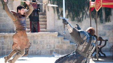 It's not the offspring of Oberyn Martell (above) that's raising eyebrows, rather it's their body armour.