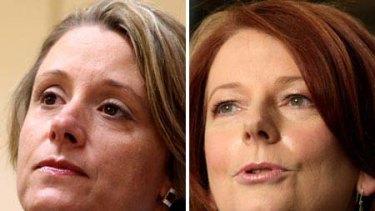 Collision ... Kristina Keneally and Julia Gillard.