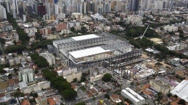 Unfinished and under threat: The Arena da Baixada stadium in Curitiba, Brazil.