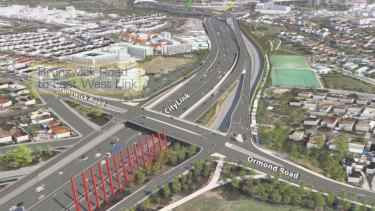 Video still of east west link artist moving visual impression.