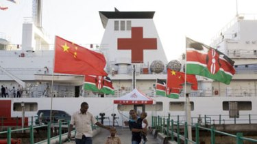 Chinese Navy hospital ship Peace Ark, which is visiting Mombasa.