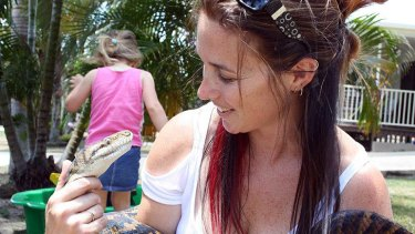 North Queensland animal control worker Kylee Gray.