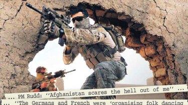 Battle ground ... Australian troops training in Afghanistan