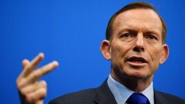 Tony Abbott in Epping on Sunday.