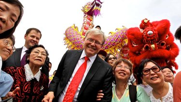 Still popular with the punters ... Kevin Rudd.