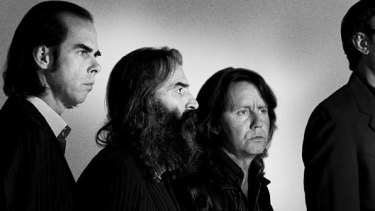 Grinderman is, from left, Nick Cave, Warren Ellis, Martyn Casey and Jim Sclavunos.