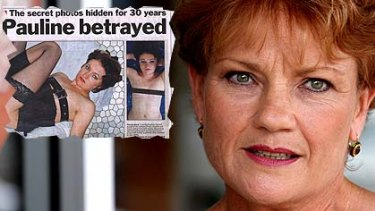 Pauline Hanson ...  <i>The Sunday Telegraph</i> has admitted the pictures it published (inset) were not of her.