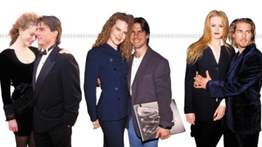 <strong>Timeline 1 </strong>(from left to right)<br> <strong>1991:</strong> At the 63rd Academy Awards in Los Angeles. <br> <strong>1992: </strong> At a Herb Ritts exhibition opening, West Hollywood.<br> <strong>1994:</strong> At the LA premiere for <em>Interview With a Vampire</em>.<br>