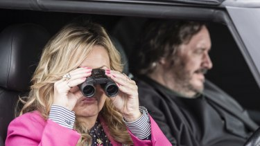 Jo Joyner as Luella Shakespeare and Mark Benton as Frank Hathaway.