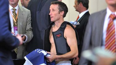 Like Seven, he's saddled wth problems: Damien Oliver after the 2012 Melbourne Cup.